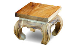 Opium Tisch 30 cm Holz Beistelltisch Akazie Massivholz Suar Echtholz Tischchen