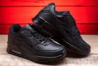 Girls Boys Trainers shoes black navy