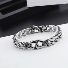 selling Vintage Chain Link Bracelet Mens 8.8'' stainless steel Biker design Hot
