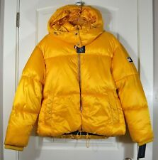 NWT WOMENS TOMMY HILFIGER YELLOW PUFFER PADDED JACKET...