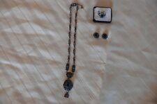 Wundervolles Antikes Trachten Schmuck-Set Silber mit  Granaten
