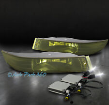 00-05 CHEVROLET IMPALA BUMPER DRIVING FOG LIGHT LAMP YELLOW LENS W/6000K HID KIT