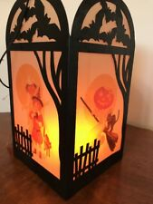 Bethany Lowe Halloween Haunted Silhouette  Lantern (light Included)--retired