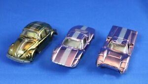 3 Aurora Cigar Box Speedline Cars - Volkswagen, Porsche, Ford-J - Original Owner