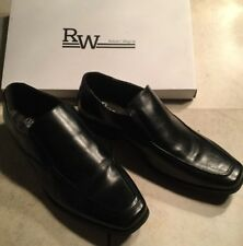 ROBERT WAYNE DOBBINS MENS COMFORT FORMAL DRESS SHOES BLACK LEATHER SLIP ON 9W