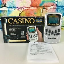 CASINO Electronic Handheld 5-IN-1 Games & Calculator Excalibur Blackjack Poker