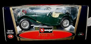 BURAGO JAGUAR SS100 CAR 3006 SPECIAL COLLECTION - 1937 - CODE 3006 - DARK GREEN