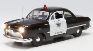 New Woodland Police Car O Scale JP5973