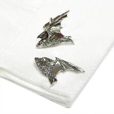 In Flight High Quality Cufflinks Silver Pewter Handmade in England Bat