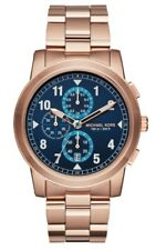 Michael Kors MK8550 Paxton RoseGold Chronograph Blue Sunray Dial Men's Watch