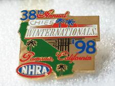 CHIEF WINTERNATIONALS 1998 NHRA Pomona CA Race Track Racing Pin , (**)
