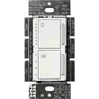 C14~Open box~LUTRON FAN CONTROL & LED DIMMER MACL-LFQH-WH