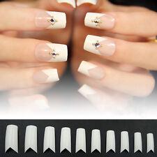 500 x Flame V Shape French False Nail Tips Nail Art Acrylic Gel Manicure Tips