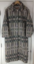 Vintage Women's Woolrich Southwest Print Wool Trenchcoat Overcoat Sz L