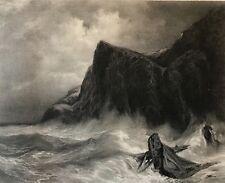 Eugène ISABEY (1804-1886) La Tempête graveur J Laurens C 1876 Normandie