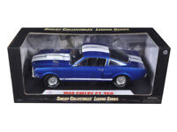 1966 Shelby Mustang GT350 - 1:18 Shelby Collectible Blue w/ White Stripes 152BL*
