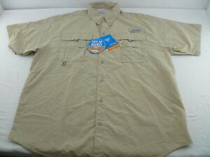 Men's Columbia UPF 30 Bahama II Fishing Shirt, Medium