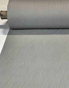 "Light Grey Automotive Auto Velvet Upholstery Fabric 61""W OEM Seat Cover A14"