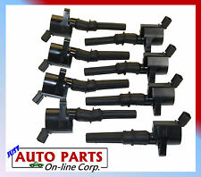 8 NEW IGNITION COILS SET FORD F-150 F-250 97-10 V8 4.6L 5.4L EXPLORER 02-05 4.6L
