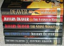 JEFFREY DEAVER LINCOLN RHYMES COLLECTION 1ST ED SIGNED