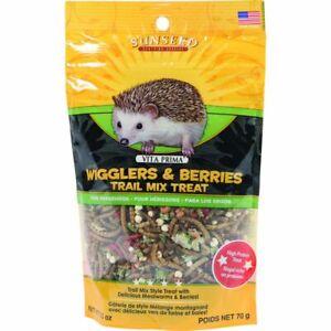 Sunseed 36035 Vita Prima Hedgehog Treat - Wigglers & Berries Trail Mix 2.5oz