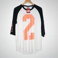 Nike Jordan Jumpman 3/4 Raglan Mens T-Shirt Size L Black/White NWT 706838-072