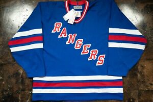 Early 90's CCM New York Rangers Authentic Jersey New With Tags 52
