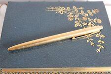 Beau STYLO BILLE WATERMAN Plaqué OR COGNAC MARTELL Ballpoint pen Vintage