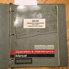 Ingersoll Rand Dd 90 Operation Amp Maintenance Manual Vibratory Compactor Guide