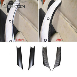 Interior Door Handle Panel Pull Cover Carbon Fiber For BMW X5 X6 E70 E71 F15 SP