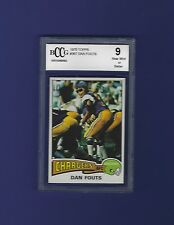 1975 Topps #367 Dan Fouts Rookie Card BGS/BCCG 9