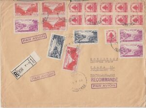 Lebanon 1949 Mif Great Lupo Abroad R- Letter - Prague