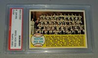 1958 Topps #312 Red Sox Team Card Ted Williams HOF TOUGH PSA 8 NM-MT