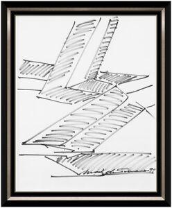 Mark Di Suvero Original Ink Drawing Hand Signed Framed Artwork Steel Sculpture