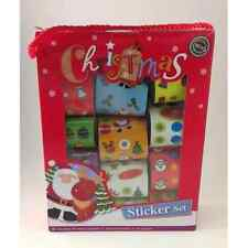 CHRISTMAS STICKER SETS, 12 SETS OF ASSORTED SMALL CHRISTMAS STICKERS