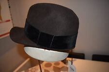 f04a1a72 Paul Smith PS Womens 100% BROWN WOOL PEAK Cap HAT WITH VELVET BAND