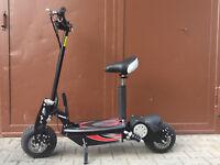 E-Scooter 1000W 45km/h schneller Elektro Roller mit Tacho 25km Reichweite e-bike