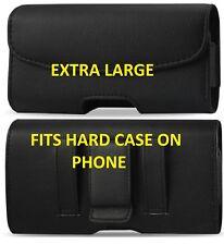 Per cellulari Extra Large in Pelle Cintura Clip Cintura Loop Fondina Pouch caso