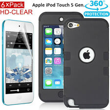 Shockproof Heavy Duty Hard Case Cover Skin for Apple iPod Touch 5 5th + Films AU
