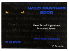 Wild Panther 6000 - 20 Pills - 2 Boxes Male Enhancement Pill More Sexual Stamina