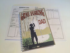 A5 PERSONALISED FISHING LOG/RECORD BOOK/ PERSONALISED FISHING JOURNAL GIFT/02