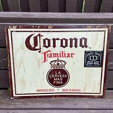 Corona Familiar Metal Tin Beer Sign 24 x 18 Inches