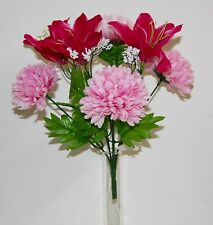 Bouquet Lys Chrysanthème Fleurs Artificielles intérieur/extérieur