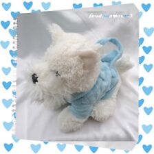 Doudou Peluche My Scotty Bag Blanc Et Bleu