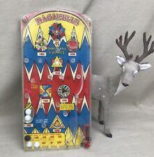 Marx Bazooka Bagatelle Vintage Pinball Game Marble Springs Plastic
