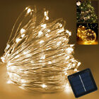 10M 100 LED SOLAR CHRISTMAS WEDDING PARTY FAIRY LAMP COPPER WIRE STRING LIGHTS