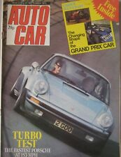 Autocar magazine 20/9/1975 featuring Porsche 911 Turbo road test, Opel