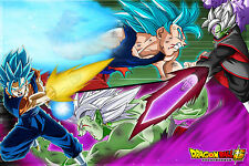 Dragon Ball Super Poster Zamasu Fusion VS Goku Blue Vegito 12x18in Free Shipping