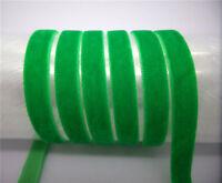"NEW DIY 5Yards 3/8"" 10mm  velvet ribbon Headband Clips Bow Decoration FX12"