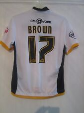 Michael Brown Match Worn Port Vale 2014-2015 Home Football Shirt with COA